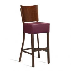 Vanna Wine Bar Stool Dark Walnut Red